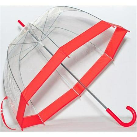 Clear Bubble Umbrella, Red Trim ()