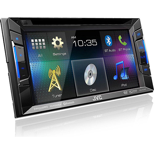 "JVC KW-V21BT Bluetooth DVD/CD/USB Receiver with 6.2"" WVGA Touch Panel Monitor"