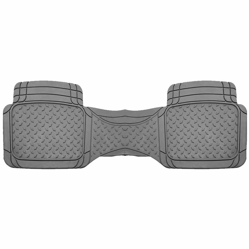 U.A.A. Inc ® 1 Piece Beige Premium Flex All Weather Rubber Rear Runner Floor Mat For Car Truck SUV Van