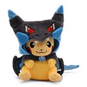"SeekFunning Pokemon Pikachu Cosplay Charizard Plush 8"" Stuffed Animal Toys, Birthday Gift,Blue Hat"