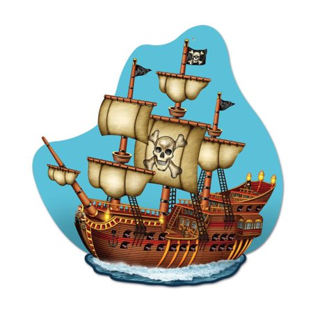 (12ct) Pirate Ship Wall Plaque Pirate Party Decorations (Pirate Decoration Ideas)