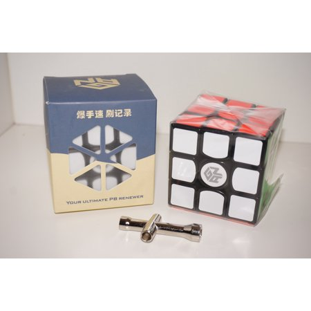 Gan 357 Ultimate 3x3x3 Black 357U Speed Cube Magic Cube Puzzle Toys ()