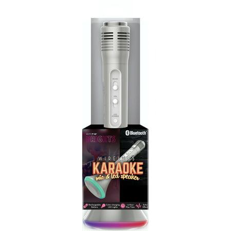 Hype Led Karaoke Mic & Speaker-gold