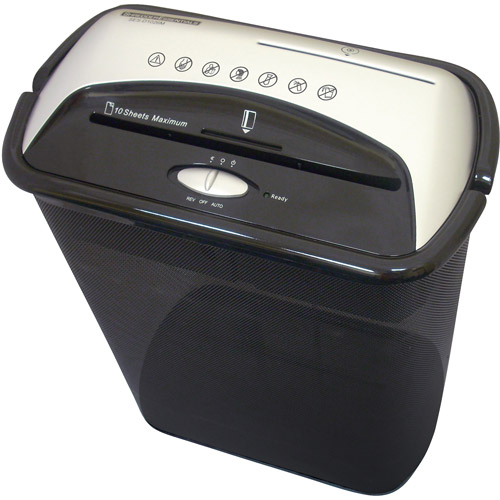 Shredder Essentials 10-Sheet Diamond-Cross Shredder
