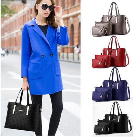 3PCs/Set Fashion Purses Handbags For Women Vintage Shoulder Bag Tote Satchel Bag