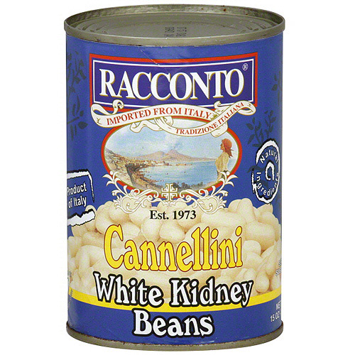 Racconto Cannellini White Kidney Beans, 15 oz (Pack of 6)