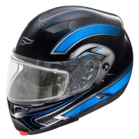 Adult Fulmer Full Face Modular Flip-Up Snowmobile Helmet w/ Dual Pane Shield