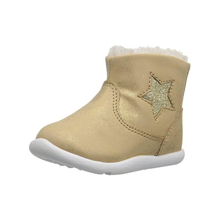 Girls Galicia Faux Leather Glitter Casual - Girls Leather Boots