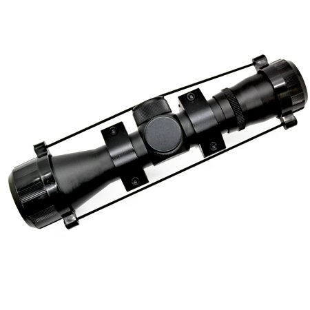 SAS Archery 4x32 Multi-Reticle Crossbow Scope with Rings (Scope For Pistol Crossbow)