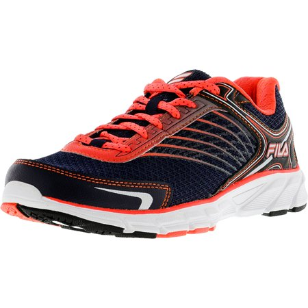 Fila Womens Memory Maranello 2 Navy  Fiery Coral Dark Silver Low Top Running  Shoe  85M