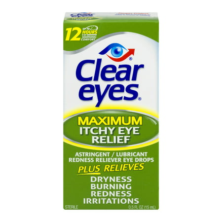 Clear Eyes Maximum Itchy Eye Relief Drops 0.5 FL (Best Allergy Medicine For Itchy Burning Eyes)