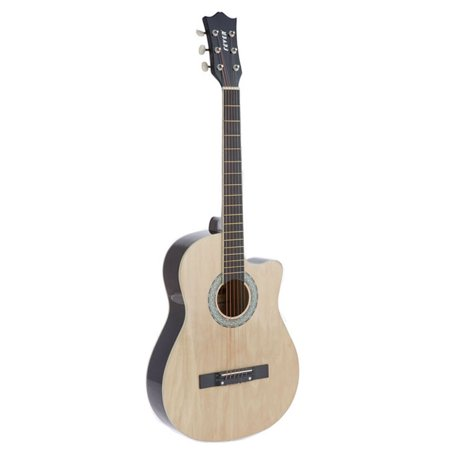 Fever 3/4 Acoustic Cutaway 38 Inches Guitar Natural, FV-030C-NT