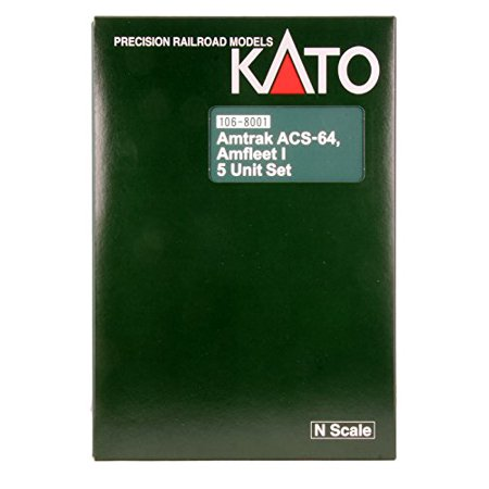 - Kato USA Model Train Products N Scale Amfleet I Phase VI 5-Unit Bookcase Set