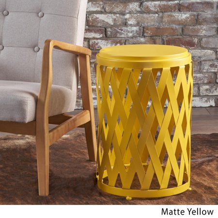 Christopher Knight Home Pecola 14-inch Round Lattice Side Table