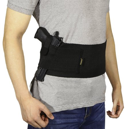 Yosoo Belly Band Holster Concealed Carry Gun Holder Elastic Wasit Band Carrying for Left Right / Men Women / Pistols Handguns