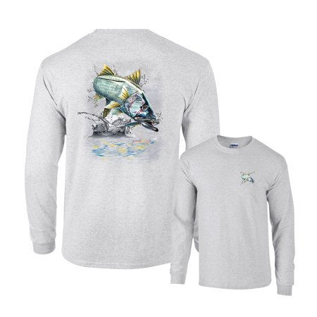 Jumping Snook Fishing Long Sleeve T-Shirt