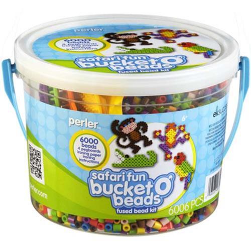 Perler Beads Safari Fun Bucket o' Beads Kit Beading Kit