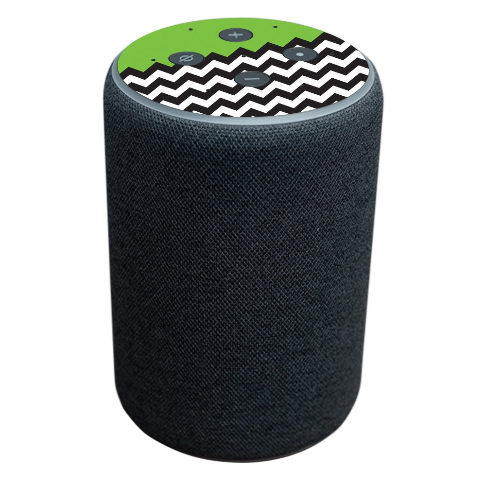 Skin for Amazon Echo Plus (2nd Gen) - Lime Chevron | Protective, Durable, and Unique Vinyl Decal wrap cover | Easy To Apply, Remove, and Change Styles