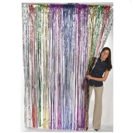 Fun Express Metallic Rainbow Foil Fringe Curtains  1 Piece  Discontinued By Manufacturer