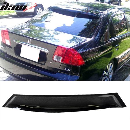 Roof Sun Visor (Fits 01-05 Civic EM2 Sedan 4Dr Rear Roof Sun Window Visor Spoiler Rain Guard )