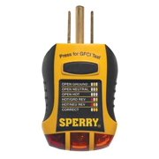 Sperry Instruments GFI6302 Receptacle Tester, Test 3-Wire and GFCI Protected 120V Outlets