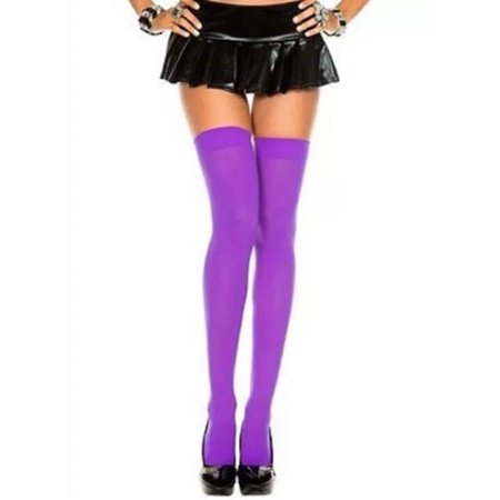 Over The Knee Sexy Cotton Compression Socks - Purple