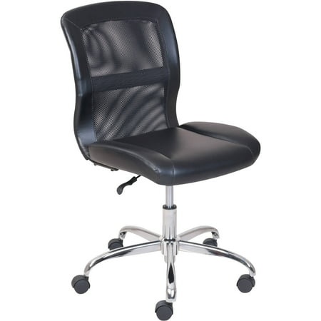 Long Back Chair - Mainstays Vinyl and Mesh Task Office Chair, Multiple Colors
