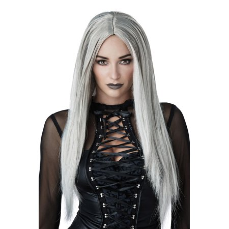Grey Gothic Matriarch Adult Wig (Grey Wig Male)
