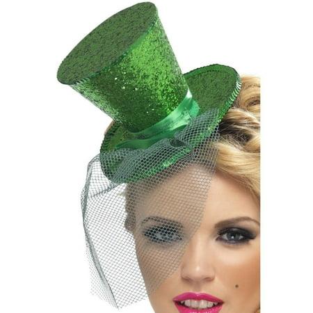 Mini Top Hat Fascinator Wholesale (Green Fever Mini Top Hat on Headband -)