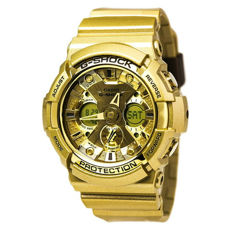 44b5fc9938c9 Casio - GA200GD-9A Men s G-Shock Ana-Digi Dial Yellow Gold Resin Strap  World Time Dive Watch - Walmart.com