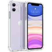 iPhone 11 Case 2019, Shockproof Clear Case with Soft TPU Bumper Cover Case for iPhone 11 6.1 inch