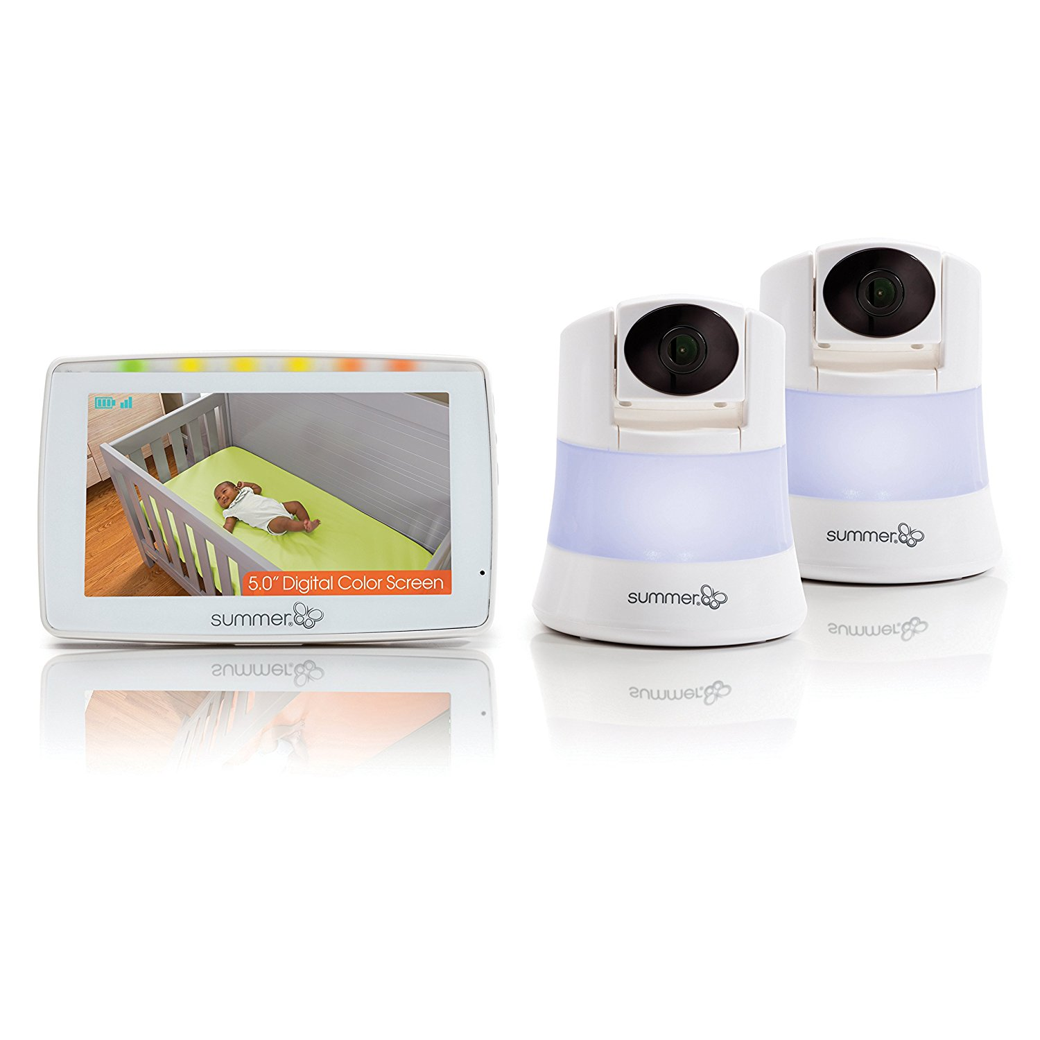 Summer Infant Wide View 2.0, Video Baby Monitor, 2 Camera