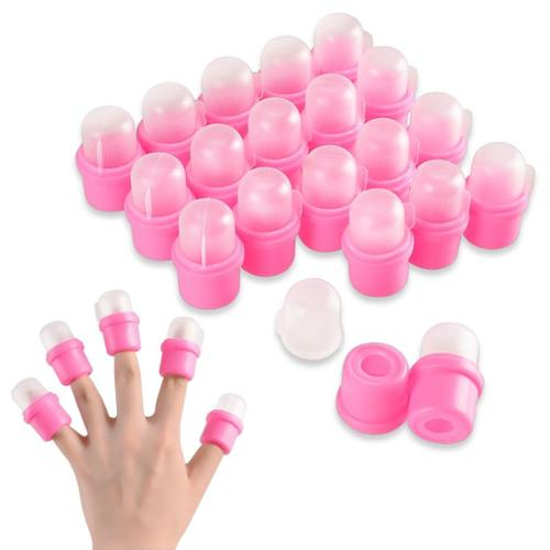 Zodaca 20 x Cap DIY Wearable Salon Nail Acrylic UV Gel Polish Remover Soak Soakers Tool For Manicure