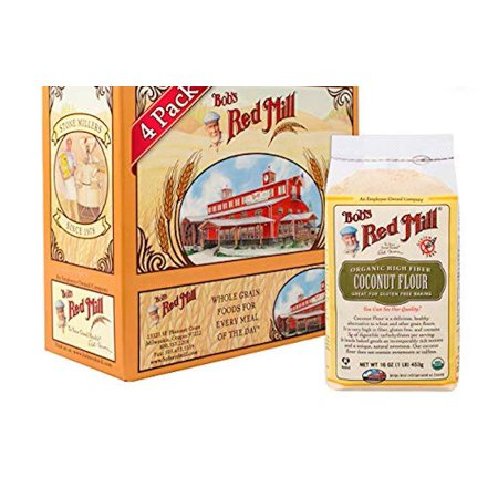 Bob's Red Mill Organic Coconut Flour, 16 Ounce (Pack of 4