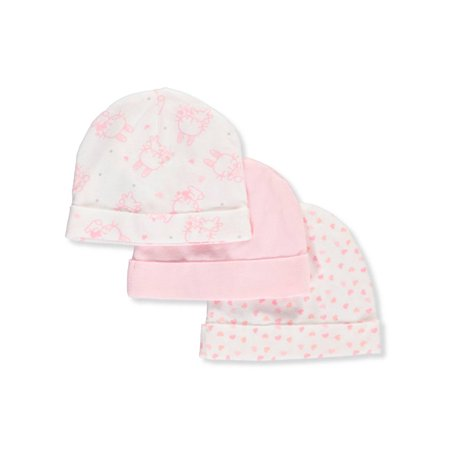 Mary Jane & Buster Baby Girls' 3-Pack Caps