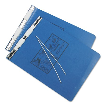 Universal Pressboard Hanging Data Binder, 9-1/2 x 11, Unburst Sheets, Blue -UNV15432
