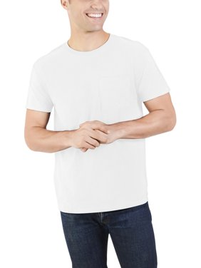 Fruit of the Loom Men's and Big Men's Dual Defense UPF Pocket T Shirt, Up To Size 4X