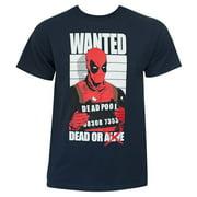 Deadpool Dead And Wanted Navy T-Shirt-Medium