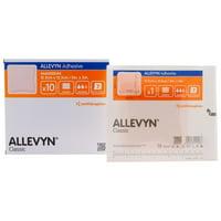 """Allevyn Adhesive Foam Dressing 5"""" x 5"""" - Box of 10"""