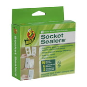 Duck Brand Foam Socket Sealers, 24pk