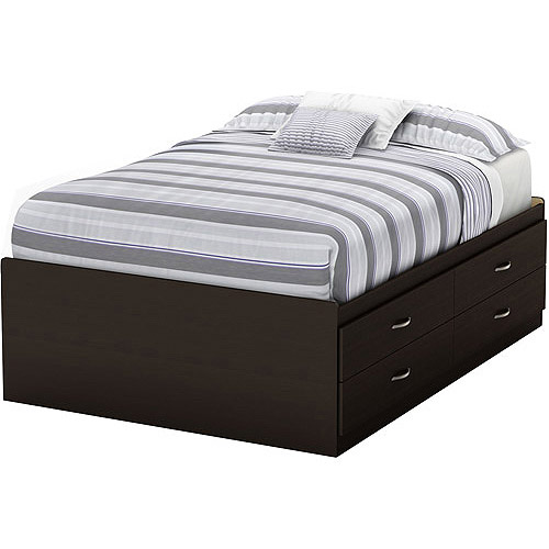 South Shore SoHo Full Captain Bed with 4 Drawers, Chocolate