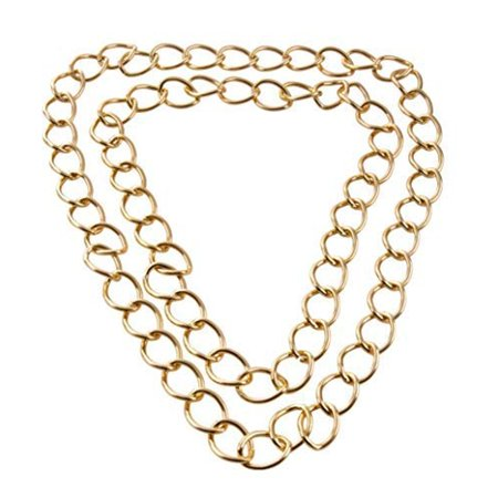 Men's Gold Chain Necklace- 2-Pack Aluminum Big Chunky Necklace, Perfect Accessory for Halloween, Costume and Rap Hip Hop 80s Themed Parties, Assorted Sizes