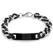 Mens 8 In. Two Tone ?cuban Bracelet In Metallic