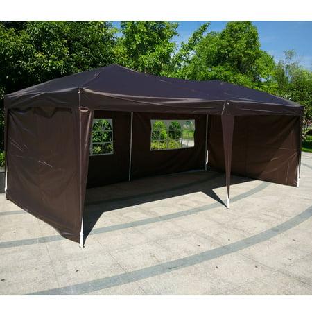 Zimtown 10'x20' EZ Pop UP Wedding Party Tent Folding Gazebo Backyard Canopy Heavy Duty 4 side