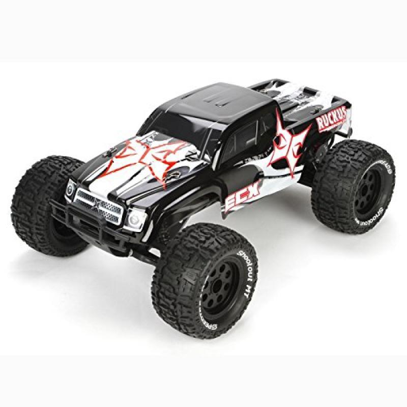 ECX Ruckus 2wd BL RTR Monster Truck, Black/White