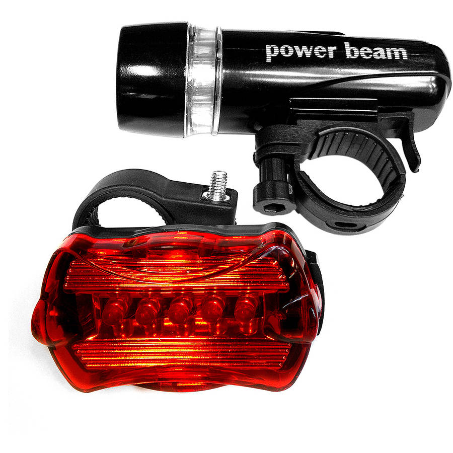LED Concepts Bicycle Headlight and Tail Light Set