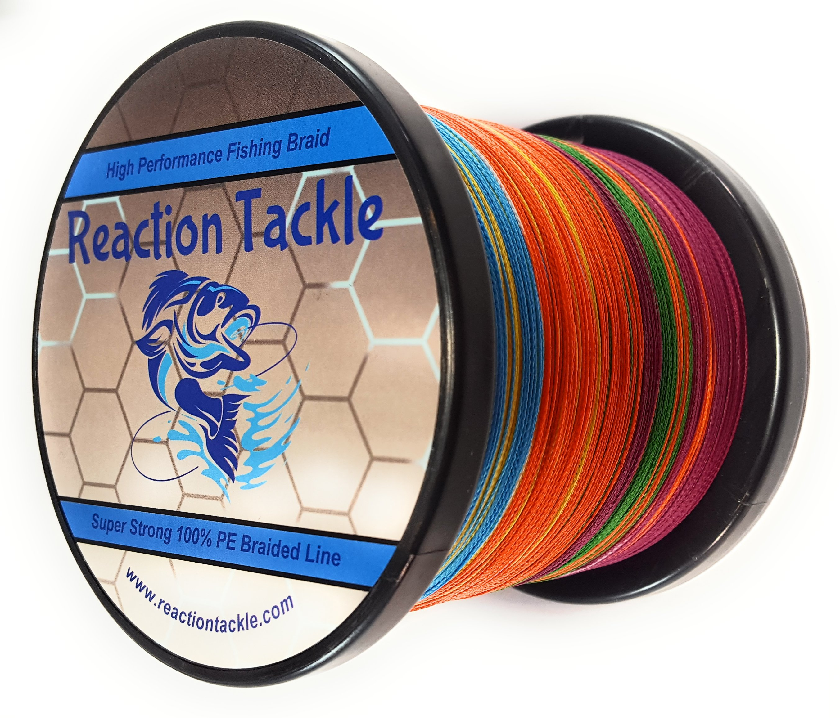 Reaction Tackle High Performance Braided Fishing Line- Multi-Color ...