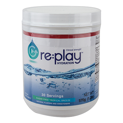 HYDRATION HEALTH FOOD HYDRATION HEALTH MIX REPLAY 30 SERVING TUB TROPICAL BREEZE