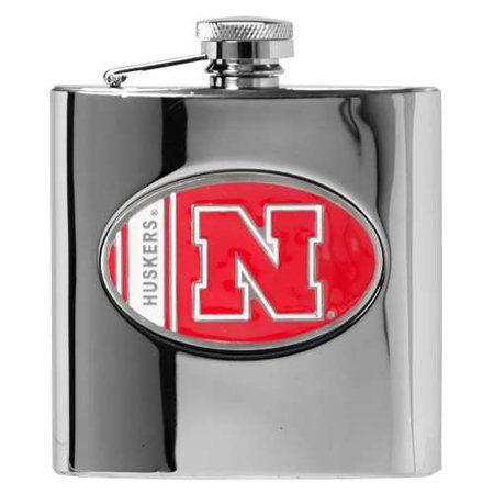 Nebraska Cornhuskers Stainless Steel Hip Flask - Great American Products Hip Flask