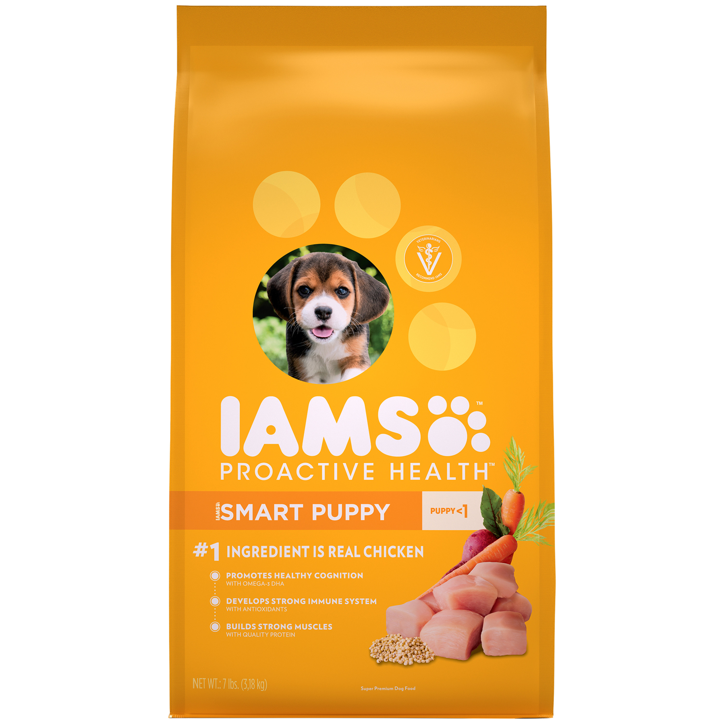 Iams Proactive Health Smart Puppy Dry Dog Food, Chicken, 7 Lb Bag